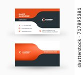 creative and clean double sided ... | Shutterstock .eps vector #717895381