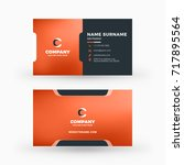 creative and clean double sided ... | Shutterstock .eps vector #717895564