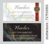 voucher  gift certificate ... | Shutterstock .eps vector #717910501