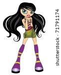 fashion cartoon girl | Shutterstock . vector #71791174