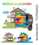 building thermography... | Shutterstock .eps vector #717916621