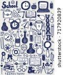 school objects stickers | Shutterstock .eps vector #717920839