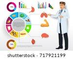 medical infographic elements... | Shutterstock .eps vector #717921199
