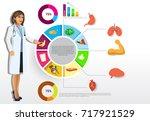 medical infographic elements... | Shutterstock .eps vector #717921529
