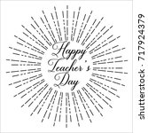 happy teacher's day  text... | Shutterstock .eps vector #717924379