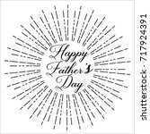 happy father's day  text design.... | Shutterstock .eps vector #717924391
