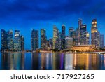 colorful lights of urban city... | Shutterstock . vector #717927265