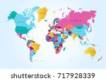 color world map | Shutterstock .eps vector #717928339