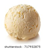 one white vanilla ice cream... | Shutterstock . vector #717932875