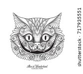 the head of the cheshire cat... | Shutterstock .eps vector #717935551