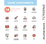 game components   modern vector ... | Shutterstock .eps vector #717935965