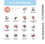 zoo wayfinding   modern vector... | Shutterstock .eps vector #717935989
