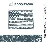 usa flag doodle | Shutterstock .eps vector #717936661