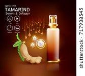 tamarind serum or collagen and...   Shutterstock .eps vector #717938545