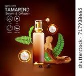 tamarind serum or collagen and...   Shutterstock .eps vector #717938665