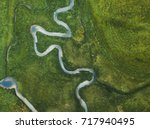 Aerial Landscape Of Winding...