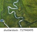 aerial landscape of winding... | Shutterstock . vector #717940495