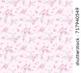 seamless floral pattern.... | Shutterstock .eps vector #717940549