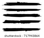 grunge paint stripe . vector...   Shutterstock .eps vector #717943864
