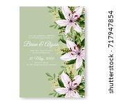 lilly floral elegant wedding...   Shutterstock .eps vector #717947854