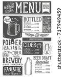beer drink menu for restaurant... | Shutterstock .eps vector #717949459