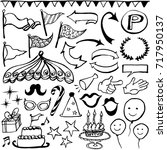 celebration party icons set.   Shutterstock .eps vector #717950137
