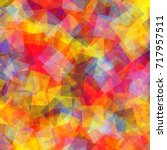 abstract squares pattern.... | Shutterstock .eps vector #717957511