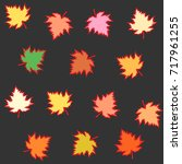 vector pattern from... | Shutterstock .eps vector #717961255