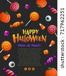 happy halloween party poster | Shutterstock .eps vector #717962251