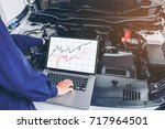 diagnostic machine tools ready...   Shutterstock . vector #717964501