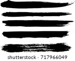 set of grunge brush strokes | Shutterstock .eps vector #717966049