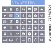 big social media icon set | Shutterstock .eps vector #717967609