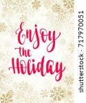 christmas frame  new year... | Shutterstock .eps vector #717970051