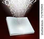 open book and  splash of ...   Shutterstock .eps vector #717970945