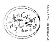 new year vector illustration... | Shutterstock .eps vector #717974791