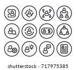 management  human resources  hr ... | Shutterstock .eps vector #717975385