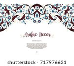 vector vintage decor  ornate... | Shutterstock .eps vector #717976621