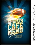 sports cafe menu card design...   Shutterstock .eps vector #717976717