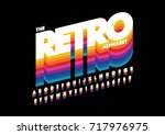 vector of retro bold font and... | Shutterstock .eps vector #717976975