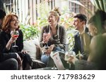 group of business people are... | Shutterstock . vector #717983629