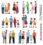 people flat style  collection | Shutterstock .eps vector #717985021