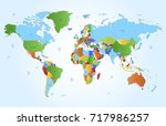 color world map | Shutterstock .eps vector #717986257