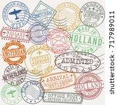 amsterdam holland netherlands...   Shutterstock .eps vector #717989011