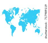 world map | Shutterstock .eps vector #717989119