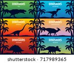 banner collection world of... | Shutterstock .eps vector #717989365