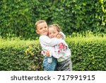brother and sister. brother... | Shutterstock . vector #717991915
