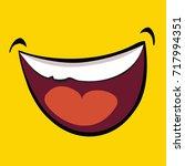 vector illustration of smile... | Shutterstock .eps vector #717994351