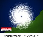 satellite view of a hurricane... | Shutterstock .eps vector #717998119