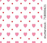 heart and polka seamless... | Shutterstock .eps vector #718000621