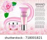 illustration cosmetic... | Shutterstock .eps vector #718001821
